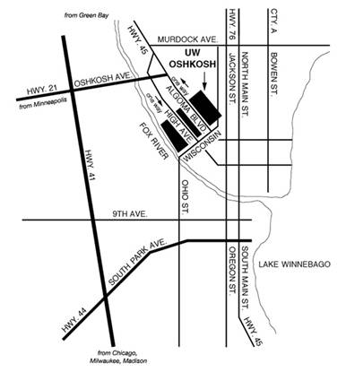 Oshkosh Campus Map.Center For Placement Testing